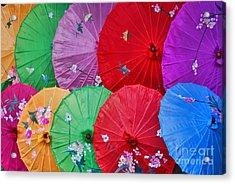Rainbow Of Parasols   Acrylic Print by Alexandra Jordankova