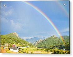 Rainbow Over Rollinsville Acrylic Print by James BO  Insogna
