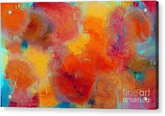 Rainbow Passion - Abstract - Digital Painting Acrylic Print by Andee Design