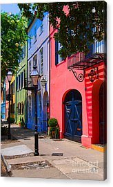 Rainbow Row Charleston Acrylic Print by Skip Willits