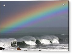 Rainbow Storm Acrylic Print by Ru Tover