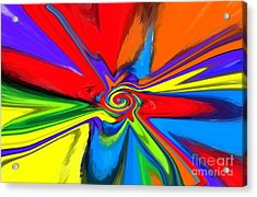 Rainbow Time Warp Acrylic Print by Chris Butler
