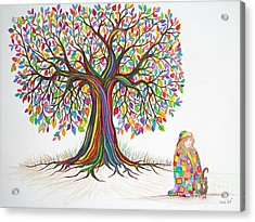 Rainbow Tree Dreams Acrylic Print by Nick Gustafson