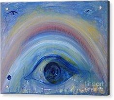 Rainbrow Acrylic Print by Elena Fattakova