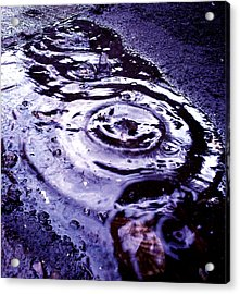 Raindrop Acrylic Print by Lucy D