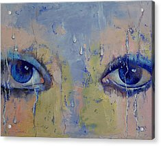 Raindrops Acrylic Print by Michael Creese
