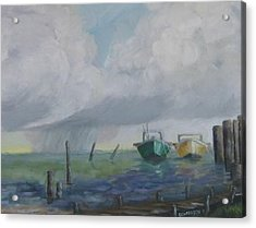 Raining On St. George Acrylic Print by Susan Richardson