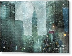 Rainy Day In Philadelphia  Acrylic Print by Diane Diederich
