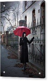 Rainy Day Acrylic Print by Cambion Art