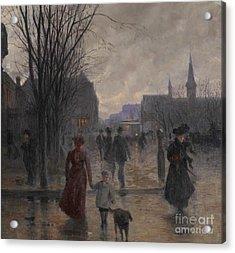 Rainy Evening On Hennepin Avenue Acrylic Print by Robert Koehler