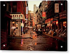 Rainy Street - New York City Acrylic Print by Vivienne Gucwa