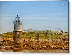 Ram Island Lighthouse Acrylic Print by Karol Livote