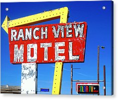 Ranch View Motel Acrylic Print by Gia Marie Houck