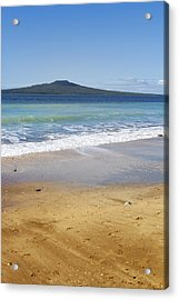 Rangitoto Acrylic Print by Les Cunliffe