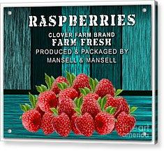 Raspberry Farm Acrylic Print by Marvin Blaine