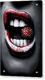 Raspberry Acrylic Print by Kalie Hoodhood