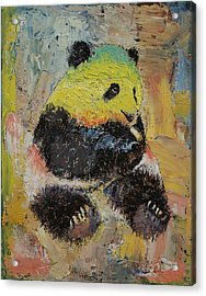 Rasta Panda Acrylic Print by Michael Creese