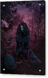Raven Spirit Acrylic Print by Cassiopeia Art
