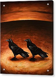 Ravens Acrylic Print by Mark Zelmer