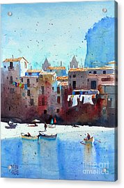 Rawer At Cefalu Acrylic Print by Andre MEHU