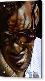 Ray Charles-beyond Sight 2 Acrylic Print by Reggie Duffie