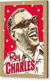 Ray Charles Pop Art Acrylic Print by Jim Zahniser