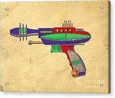 Ray Gun Patent Art Acrylic Print by Edward Fielding