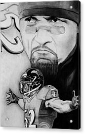 Ray Lewis Acrylic Print by Jason Dunning