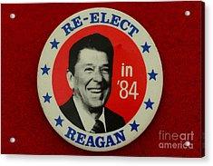 Re-elect Reagan Acrylic Print by Paul Ward