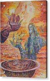 Re-encounter With Borinquen Acrylic Print by Estela Robles Galiano