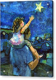 Reach For The Stars Acrylic Print by Jen Norton