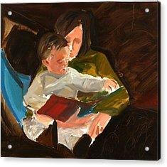 Reading Acrylic Print by Daniel Clarke