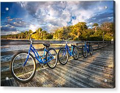 Ready To Ride Acrylic Print by Debra and Dave Vanderlaan