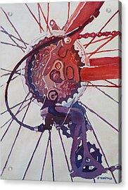 Rear Derailleur Acrylic Print by Jenny Armitage