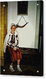Rebekah In Romania Acrylic Print by Sarah Loft