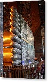 Reclining Buddha - Wat Pho - Bangkok Thailand - 01137 Acrylic Print by DC Photographer