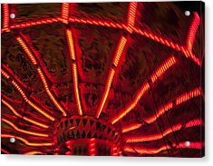 Red Abstract Carnival Lights Acrylic Print by Garry Gay