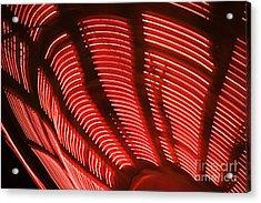 Red Abstract Light 15 Acrylic Print by Tony Cordoza