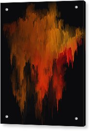 Red And Gold 1 Acrylic Print by Michael Pickett