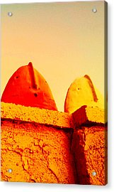 Red And Yellow Vigils  Acrylic Print by Mark M  Mellon