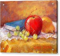 Red Apple Acrylic Print by Nancy Stutes