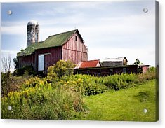 Red Barn In Groton Acrylic Print by Gary Heller