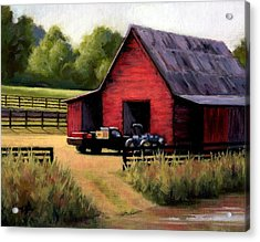 Red Barn In Leiper's Fork Tennessee Acrylic Print by Janet King