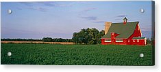 Red Barn Kankakee Il Usa Acrylic Print by Panoramic Images