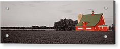 Red Barn, Kankakee, Illinois, Usa Acrylic Print by Panoramic Images