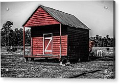 Red Barn  Acrylic Print by Steven  Taylor