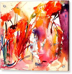 Red Blooms Acrylic Print by  Tolere