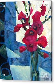 Red Bouquet 2 Acrylic Print by Wendy Westlake