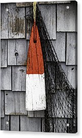 Red Buoy Acrylic Print by Rafael Macias