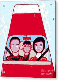 Red Car Acrylic Print by Patrick J Murphy